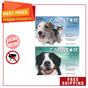 CAPSTAR for DOGS All Sizes Flea Treatment 6 Tablets FREE Shipping AU SHOP