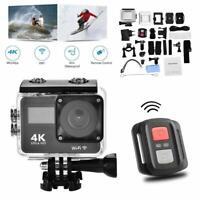 4K Wifi HD Sports Action Helmet Camera Cam DV Camcorder Go Pro Remote Waterproof
