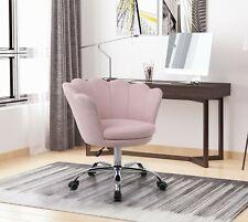 Modern Leisure Arm Chair Velvet Swivel Shell Chair Home Office Chair US