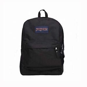 New JANSPORT SUPERBREAK Backpack 100% Authentic School Bag Black & Wine Red