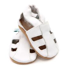 Chaussures blanches unisexe en cuir pour bébé