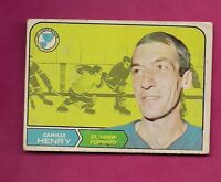 1968-69 OPC # 116 BLUES CAMILLE HENRY VG CARD  (INV# 9976)