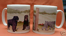 BOUVIER DES FLANDRES DOG MUG OFF TO THE DOG SHOW WATERCOLOUR PRINT SANDRA COEN