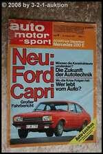 AMS Auto Motor Sport 4/74 DB 280 E BMW 525 GS Tuning Ford Capri II