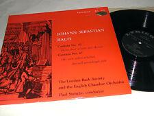 BACH Cantatas #10 & #47 Steinitz London Bach Society STEREO LYRICHORD LP NM!