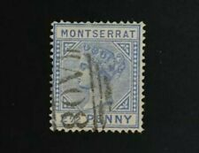 1884 Montserrat 2 1/2d #8 Queen Victoria Used CV $23 VF