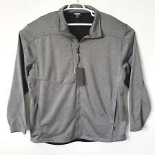 Landway Mens Sweat Shirt Size 4XL Gray Zip Jacket Pockets Coat Soft Shell Fleece