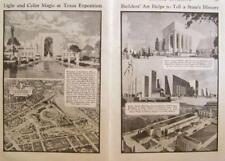 1936 Texas Centennial Exposition vintage pictorial