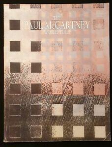 Vintage 1990 'The Paul McCartney World Tour' Programme -  Includes Ticket Stub