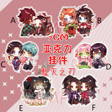Anime Demon Slayer Kimetsu No Yaiba Kamado Tanjirou Acrylic Keychain Gift N