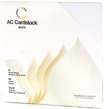 American Crafts 632376 12 in. x 12 in. White Cardstock Paper - 60 Pack - 2-Pack