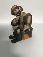 Emmett Kelly Jr Real Rags Collection The Thinker 9454 Flambro #0678 Of 2500