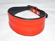 Collier chien lévrie levrette barzoï Rouge neuf en cuir 100% véritable  55 cm