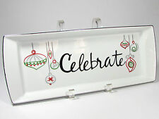 """St. Nicholas Square EAT DRINK & BE MERRY 14"""" Treat Tray Platter Celebrate"""
