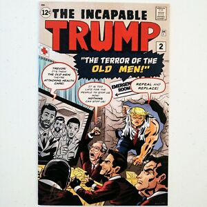 THE INCAPABLE TRUMP #2 COMIC BOOK NYCC 2018 SIGNED (ONLY 200 COPIES) VERY RARE!