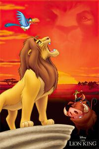 The Lion King - Disney Movie Poster (King Of Pride Rock - Simba, Timon & Pumbaa)