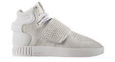 Girls Boys Juniors ADIDAS TUBULAR INVADER STRAP J Off White Trainers BA9370