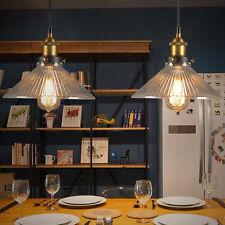 Antique Industrial Glass Shade Ceiling Light Pendant Chandelier Vintage Lighting