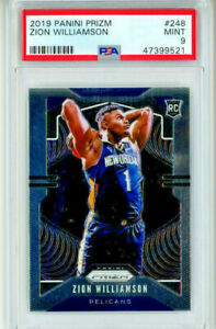 2019-20 Panini Prizm Zion Williamson Base RC #248 PSA 9