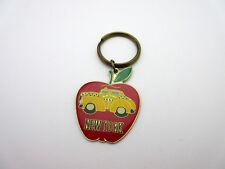 Edad vintage llavero de América EE. UU. New York Taxi llavero anilla