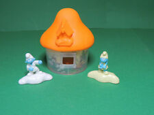 Schtroumpf Smurf Maison orange figurine Happy meal McDonald's 2017 lost village