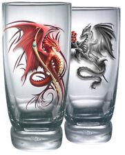 Spiral Wyvern, Water Glasses - Set Of 2|Dragon|Tribal|Fashion|Mystical