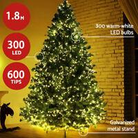 "TAHARI NEW!! BEADED 50/"" CHRISTMAS Tree Skirt GRAY SILVER 50"" Embellished LUX"