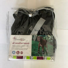 Good2GO Black All Weather Dog Boots, Size XL Water Resistant Fleece Lining