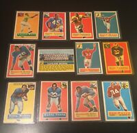 "1956-60 Topps Football Lot of ""12"" Cards w HOF'ers"