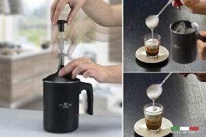 TUTTOCREMA ALLUMINIO ANTIADERENTE MONTA LATTE INOX CAFFE CAPPUCCINO Made Italy