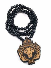 New Hip-hop fashion good quality wood nyc lbj Necklace ( Lion King )