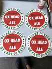 Standard Dry Ox Head Dry Ale Ox Cart Beer NOS Rochester NY Tray Liners (4)