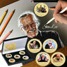 WR Stan Lee 5PCS Colored Gold Coin Gift Box Set Marvel Excelsior Collection Fans