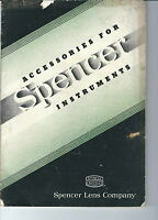 MC-223 - Accessories for Spencer Instruments Catalog, 1938 Spencer Lens Company