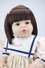 Reborn Toddler Dolls 28'' Handmade Lifelike Baby Girl Doll  Silicone Vinyl 70cm