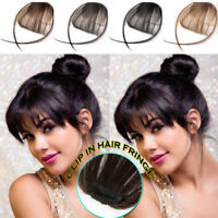 Invisible Clip In Thin Bangs Fringes 100% Real Remy Human Hair Extension US T702