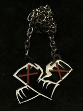 CM Punk Best in the World Pendant Necklace WWE Fists crossed wwe