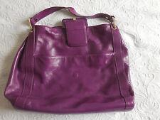 TED BAKER Large Oversize Leather Purple Hobo Shoulder Bag ❤