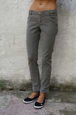 SIVIGLIA Pantaloni Jeans Denim Verde Made in ITALY slim stretch uk12 SUPER