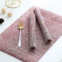 Placemats Heat-Resistant Placemats Stain Resistant Anti-Skid Washable PVC Table