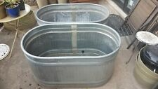 Pair of Galvanized Stock Tanks, 100 Gallon - Pick Up Only  00006000