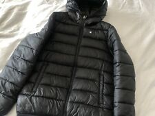 XL Youth Champion Hooded Puffa Coat, Black, Good Condition