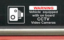 2 х Vehicle Equipped CCTV Video Cameras Board Sticker Decal Sign Car Taxi Cab