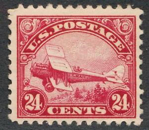 UNITED STATES C6 MINT LH F-VF 24c CARMINE