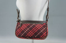 Authentic BURBERRY BLUE LABEL Shoulder Pouch Red Burberry Check Free Ship 757r30