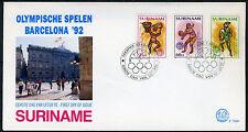 SURINAME E154A/C FDC 1992 - Olympische spelen Barcelona (3 stuks)