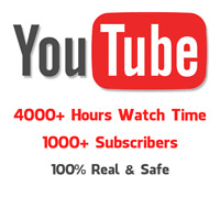 4000 ultimate Watch time for  monetize approved 100% real