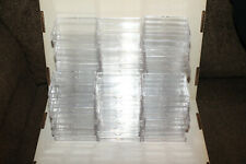 SLIGHTLY USED 70 x 25 CARD COUNT 2 PIECE CLEAR PLASTIC SLIDER BOX BCW ULTRA PRO