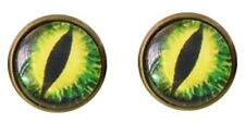 Monster Green Eye Earrings Monsters Eyeballs Green Party Halloween Stud Earrings