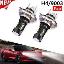 H4 9003 60W 1800LM 6000K Car COB LED Conversion Headlight Bulb Hi/Lo Beam EW